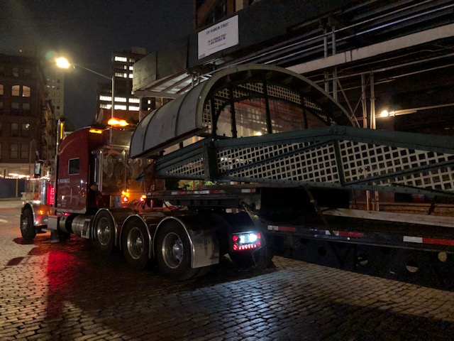 Pedowitz Machinery Movers and Heavy Hauling NYC Franklin Canopy 1