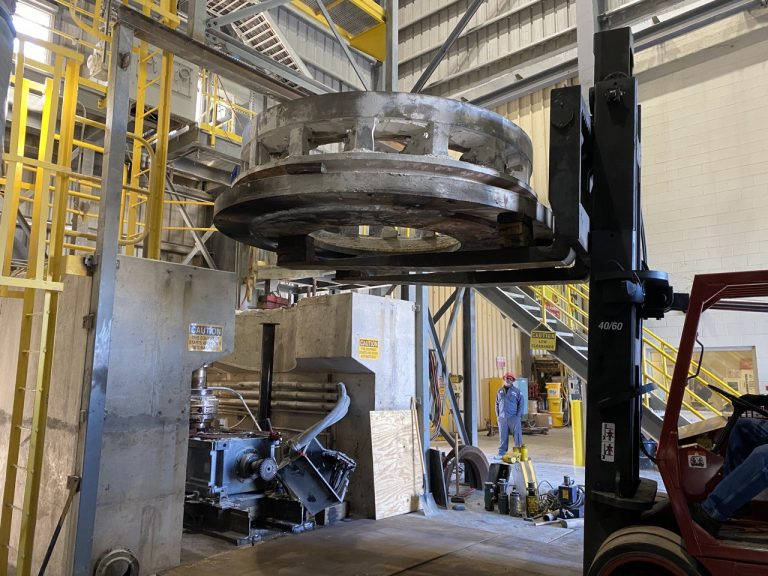 Pedowitz Machinery Movers Florida Replacing Mill Base Larose, LA