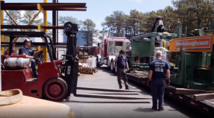 Pedowitz Machinery Movers Install Peddinghaus Beam Drill Line Bellport NY